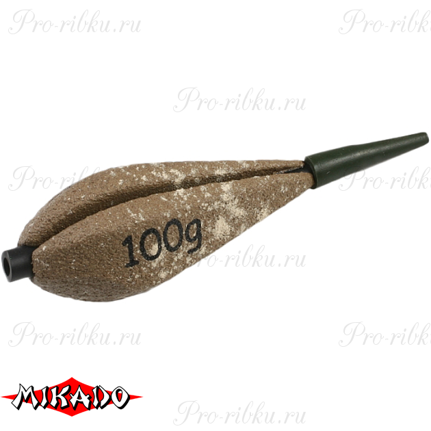 Грузило карповое сменное Mikado. отцентрованное (песочный) 25S  50 г.  уп.=10 шт., упак