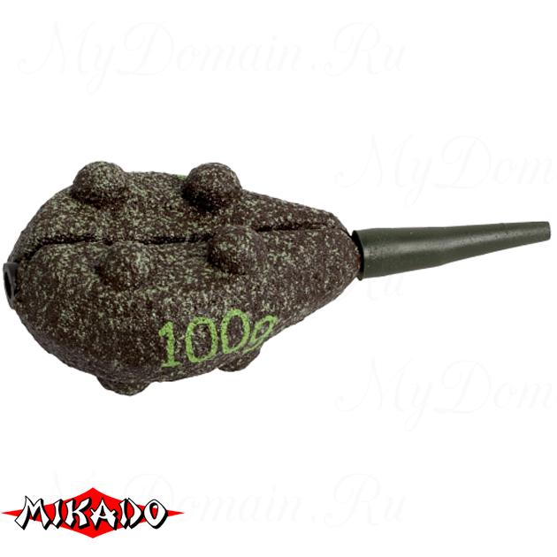 Грузило карповое сменное Mikado. плоское (тёмно-зелёный) 23G  100 г.  уп.=10 шт., упак