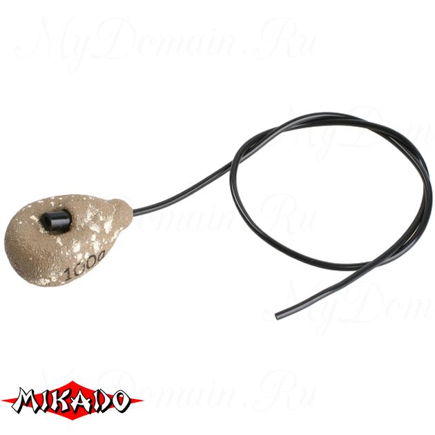 Грузило карповое Mikado с антизакручивателем. асимметричное (песочный) 12S  90 г.  уп.=10 шт., упак