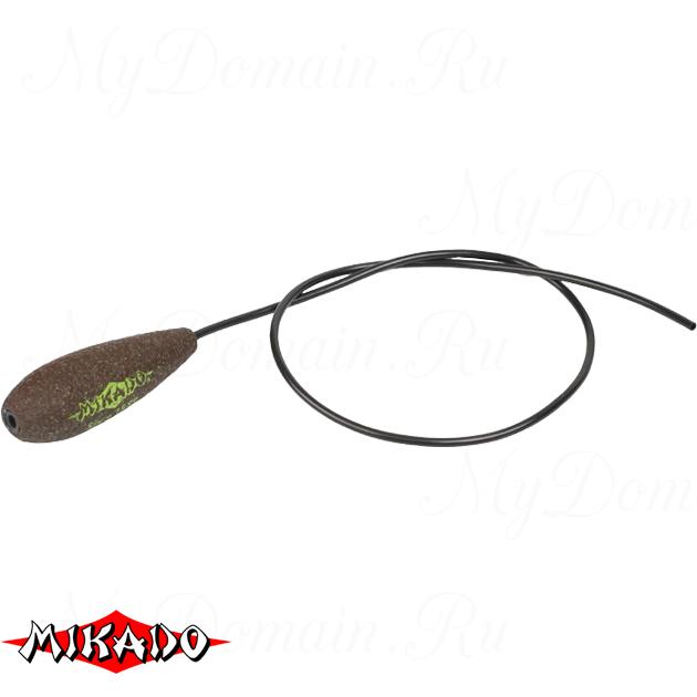 Грузило карповое Mikado с антизакручивателем. отцентрованное (тёмно-зелёный) 18G  40 г.  уп.=10 шт., упак