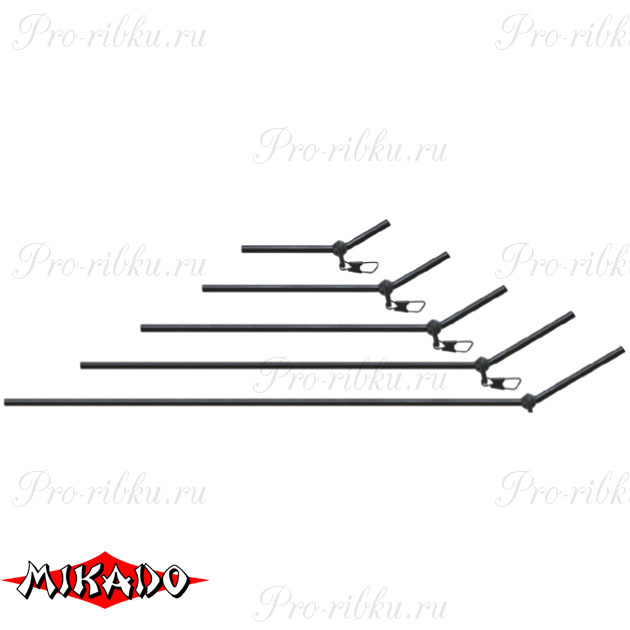 Трубка - антизакручиватель Mikado с карабином 25 см.  уп.=10 шт., упак