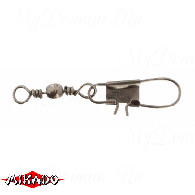 Застежка с вертлюжком Mikado Interlock № 10.  тест 14 кг. (12 шт.) фас.=10 уп., упак