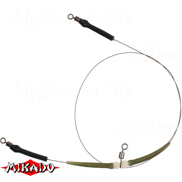 Поводок стальной Mikado X-Plode комбинированный без крючков 40 см., 10 кг. (уп.=2 шт.), упак