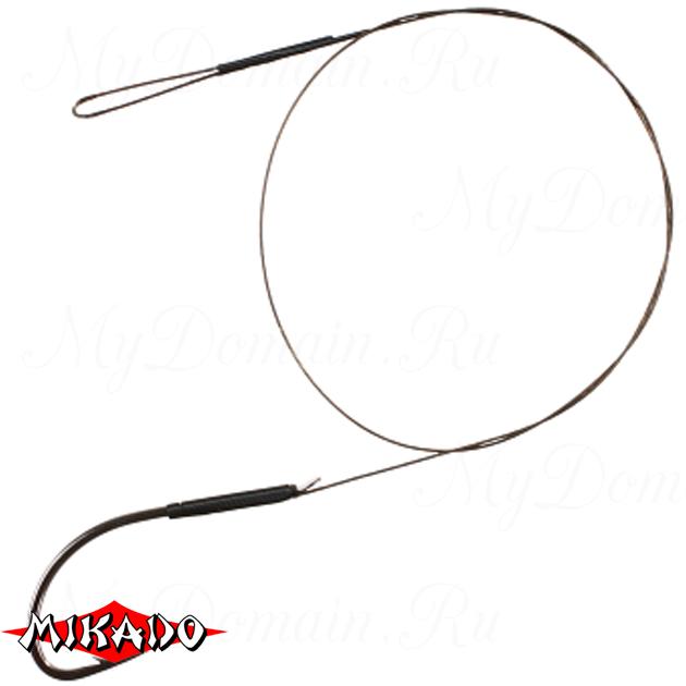 Поводок стальной Mikado X-Plode с крючком 25 см., 10 кг. (2 шт.) фас.=10 уп._, упак