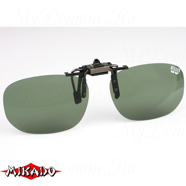 Насадка на очки поляризационная Mikado CPON-GR (зелёные линзы), шт