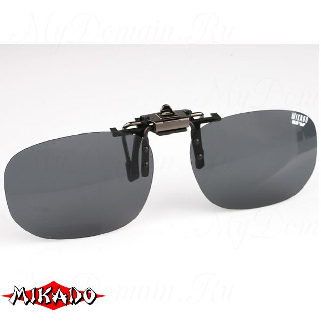 Насадка на очки поляризационная Mikado CPON-GY (серые линзы), шт