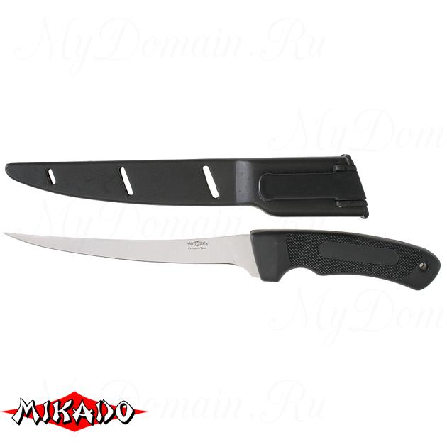 Нож рыболовный Mikado (лезвие 17.5 см.) AMN-F-502, шт