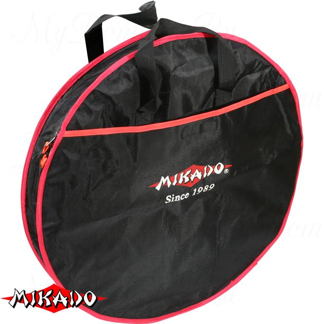 Сумка для перевозки садков Mikado круглая 1 секция (63 х 17 см.) чёрный-красный, шт