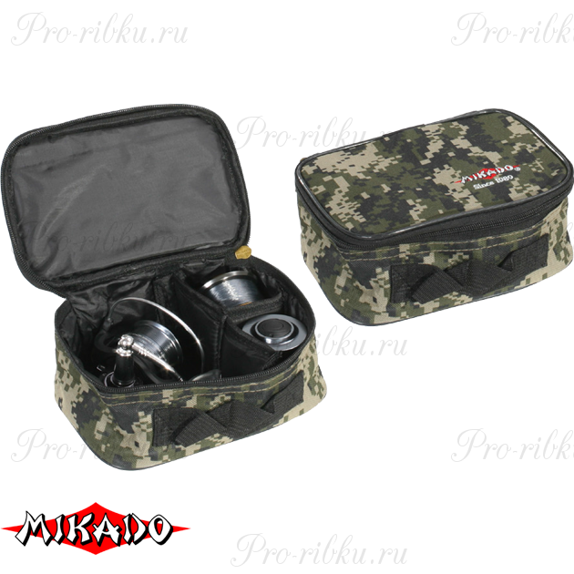 Сумка для рыболовных катушек Mikado R002P (20 х 13.5 х 9см.) камуфляжная, шт