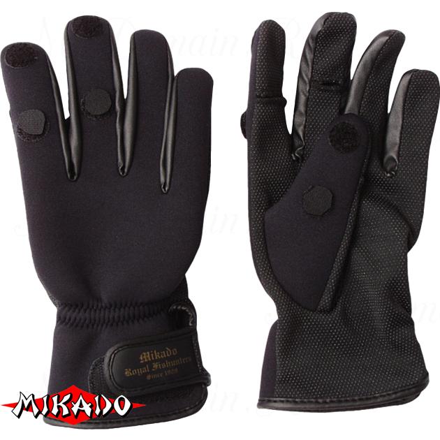 Перчатки рыболовные неопреновые Mikado UMR-02 размер XL, шт