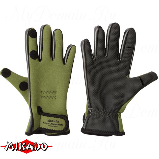 Перчатки рыболовные неопреновые Mikado UMR-03 размер XL, шт