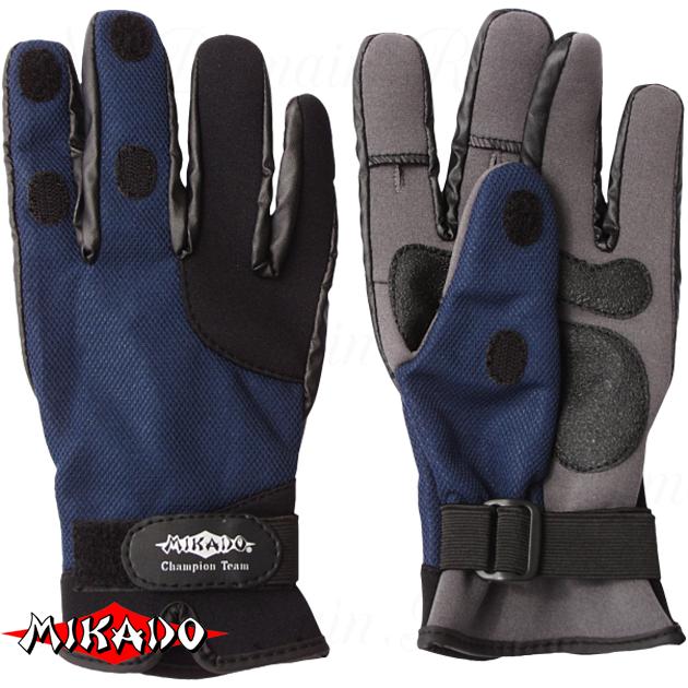 Перчатки рыболовные неопреновые Mikado UMR-04 размер XL, шт