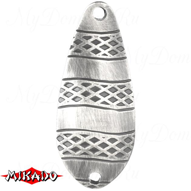 Блесна колеблющаяся Mikado STRIPE № 3 / 22 г. / 6.7 см. - состаренное серебро  уп.=5 шт., шт