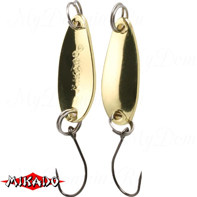 Блесна колеблющаяся Mikado MINI  2.5 г. / 2.4 см. - золото-золото, шт