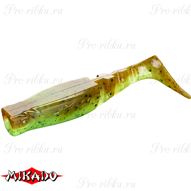 """Виброхвост Mikado FISHUNTER 2 """"съедобная резина"""" 11.5 см. / 347  уп.=3 шт., упак"""
