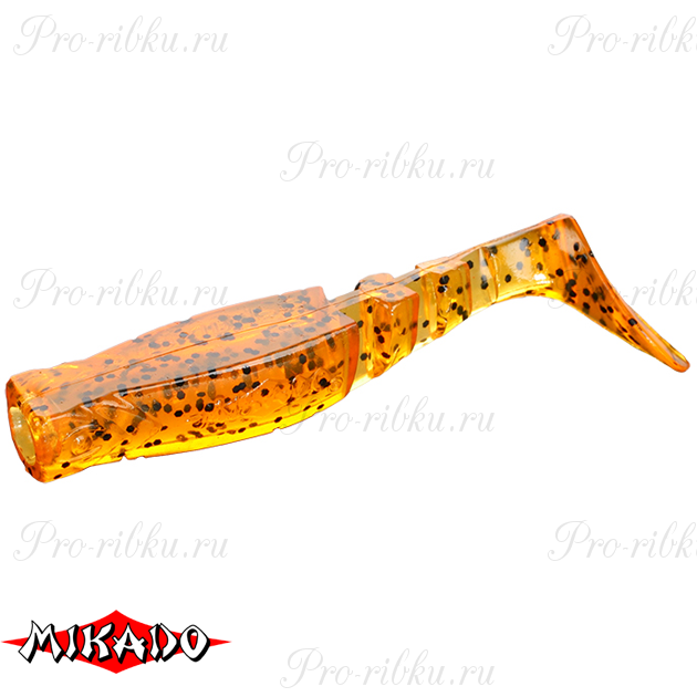 """Виброхвост Mikado FISHUNTER 2 """"съедобная резина"""" 11.5 см. / 350  уп.=3 шт., упак"""