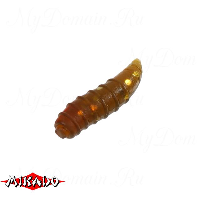 Опарыш силиконовый Mikado TROUT CAMPIONE (чеснок) 1.5 см. / 004, упак