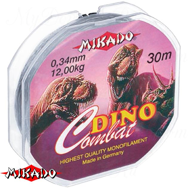 Леска мононить Mikado DINO COMBAT 0,14 (30 м) - 3.00 кг.  уп.=10 шт., шт