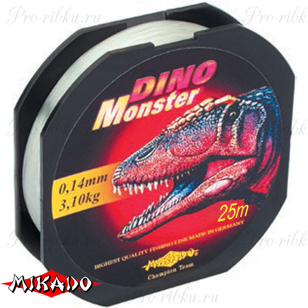 Леска мононить Mikado DINO MONSTER 0,14 (25 м) - 3.10 кг.  уп.=10 шт., шт