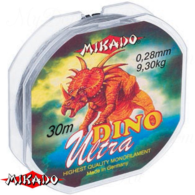 Леска мононить Mikado DINO ULTRA 0,18 (30 м) - 4.55 кг.  уп.=10 шт., шт