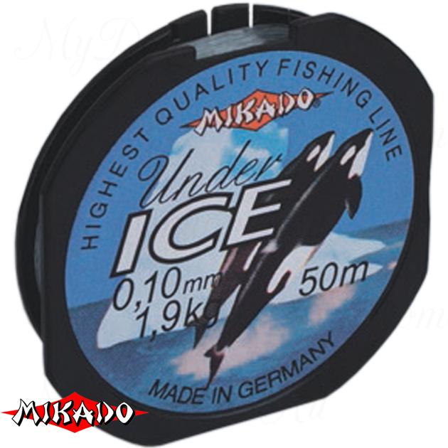 Леска мононить Mikado UNDER ICE 0,20 (50 м) - 4.80 кг.  уп.=10 шт., шт