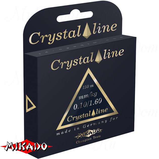Леска мононить Mikado CRYSTAL LINE 0,16 (150 м) - 3.75 кг.  уп.=10 шт., шт