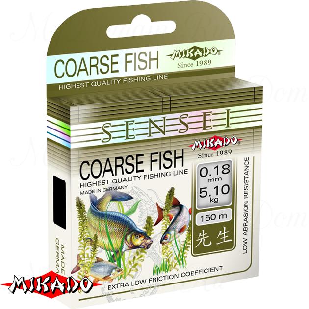 Леска мононить Mikado SENSEI COARSE FISH 0,24 (150 м) - 7.60 кг.  уп.=10 шт., шт