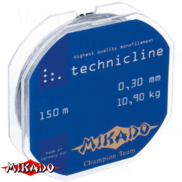 Леска мононить Mikado TECHNICLINE 0,38 (150 м) - 13.50 кг.  уп.=10 шт., шт