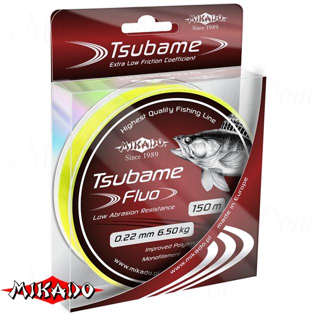 Леска мононить Mikado TSUBAME FLUO 0,22 (150 м) - 6.50 кг.  уп.=10 шт., шт