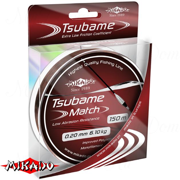 Леска мононить Mikado TSUBAME MATCH 0,14 (150 м) - 3.30 кг.  уп.=10 шт., шт