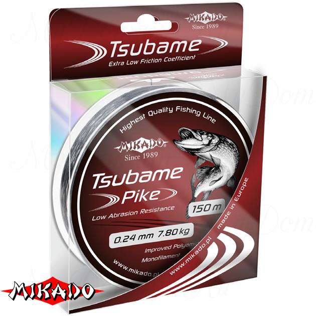 Леска мононить Mikado TSUBAME PIKE 0,18 (150 м) - 5.20 кг.  уп.=10 шт., шт