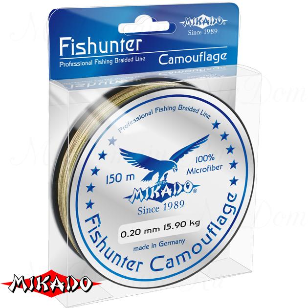 Плетеный шнур Mikado FISHUNTER CAMOUFLAGE 0,20 (150 м) - 15.90 кг., шт