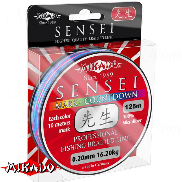 Плетеный шнур Mikado SENSEI MARK-COUNTDOWN 0,30 (125 м) - 29.10 кг., шт