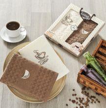 "Комплект салфеток  вафельных ""KARNA"" AFFAGATO COFFEE  45x65 - 2 шт.  Арт.2443-1"