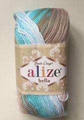 Bella  Batik (ALIZE) 3675-бел/голуб/коричневый