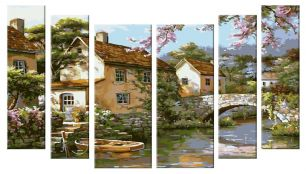 Рисунок деревушки