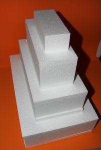 """Основа торт-муляж """"Прямоугольник"""" 49 см, пенопласт (1уп = 2шт)"""
