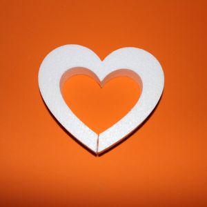 `Сердце с внутренним вырезом 15 см, пенопласт