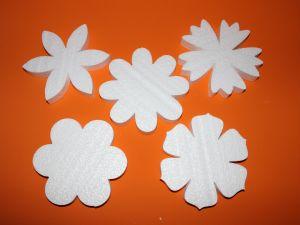 Цветочки 16 см, набор, пенопласт (1уп = 5 шт)