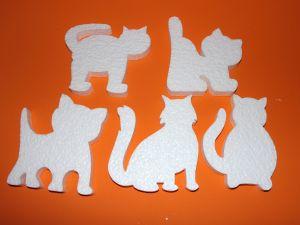 """Набор фигурок """"Коты"""" 16 см, пенопласт (1уп = 5 шт)"""