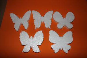 """Набор фигурок """"Бабочки"""" 16 см, пенопласт (1уп = 5шт)"""