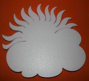 "`Фигурка ""Солнце с облаком"" 45 см, толщина 35 мм, пенопласт"