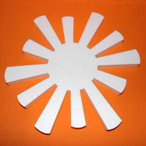 "`Фигурка ""Солнце"" 45 см, толщина 35 мм, пенопласт, Арт. Р-ПП01316"
