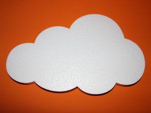 "Фигурка ""Облако"" 45 см, толщина 35 мм, пенопласт (1уп = 2шт), Арт. ПП01321"