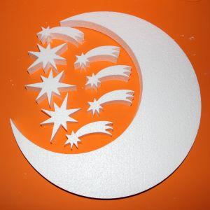 "Фигурка ""Луна со звездами"" 45 см, толщина 35 мм, пенопласт (1уп = 2шт)"
