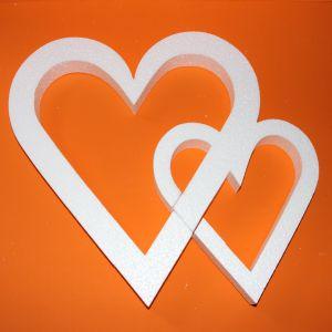 "Фигурка ""Сердце двойное"" 45 см, толщина 35 мм, пенопласт (1уп = 2шт), Арт. ПП12101"