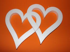 "Фигурка ""Сердце двойное"" 45 см, толщина 35 мм, пенопласт (1уп = 2шт), Арт. ПП12102"