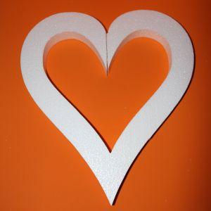 """Фигурка """"Сердце с внутренним вырезом"""" 45 см, толщина 35 мм, пенопласт (1уп = 2шт)"""