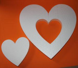"Фигурка ""Сердце 2 в 1"" 45 см, толщина 35 мм, пенопласт (1уп = 2шт)"