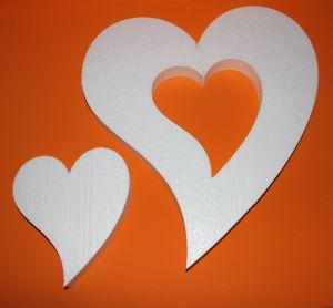"""Фигурка """"Сердце не симметричное 2 в 1"""", 45 см, 21 см (1уп = 2 набора)"""